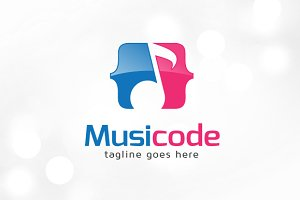 Music Code Logo Template