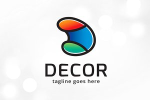 Decor Letter D Logo Template