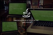 Realistic Macbook mockup-in coffee
