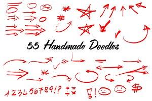 55 Handmade Vector Doodles