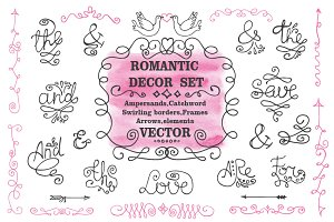 Roamantic decor & ampersand set 1