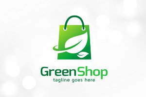 Green Shop Logo Template