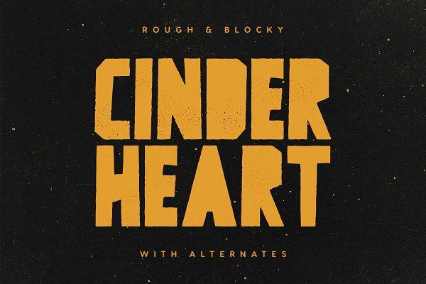 Cinderheart - A Rough & Blocky Font