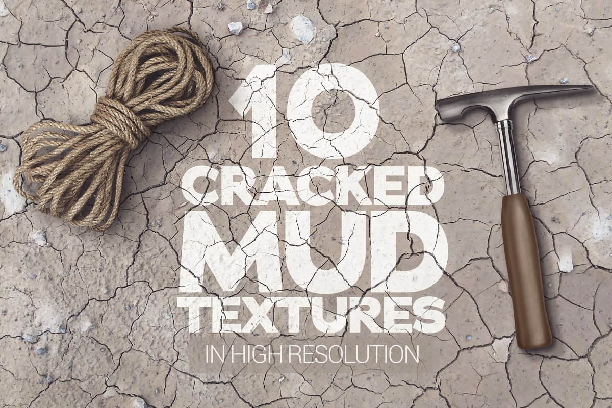 Cracked Mud Textures x10