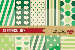 St Patricks Green Scrapbooking