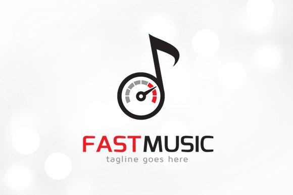 fast music logo template logo templates creative market