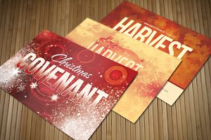 Holiday Church Postcard Bundle