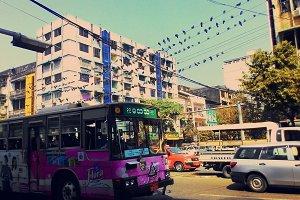 Traffic in Yangon Myanmar