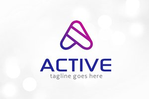 Active Letter A Logo Template