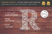 Wedding Letter R - Logo Template