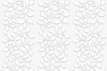 Set of seamless patterns with holly