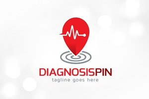 Diagnosis Point Logo Template
