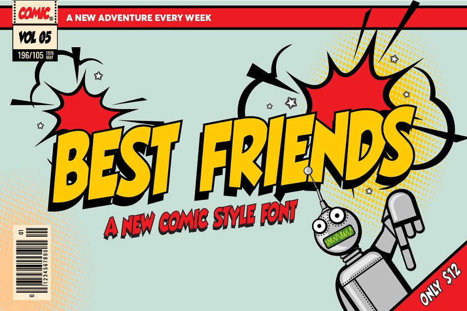 Best Friends Comic Font ~ Display Fonts ~ Creative Market