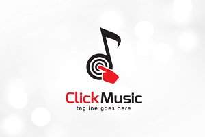 Music Click Logo Template