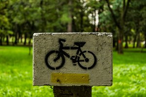 Sign cycle route