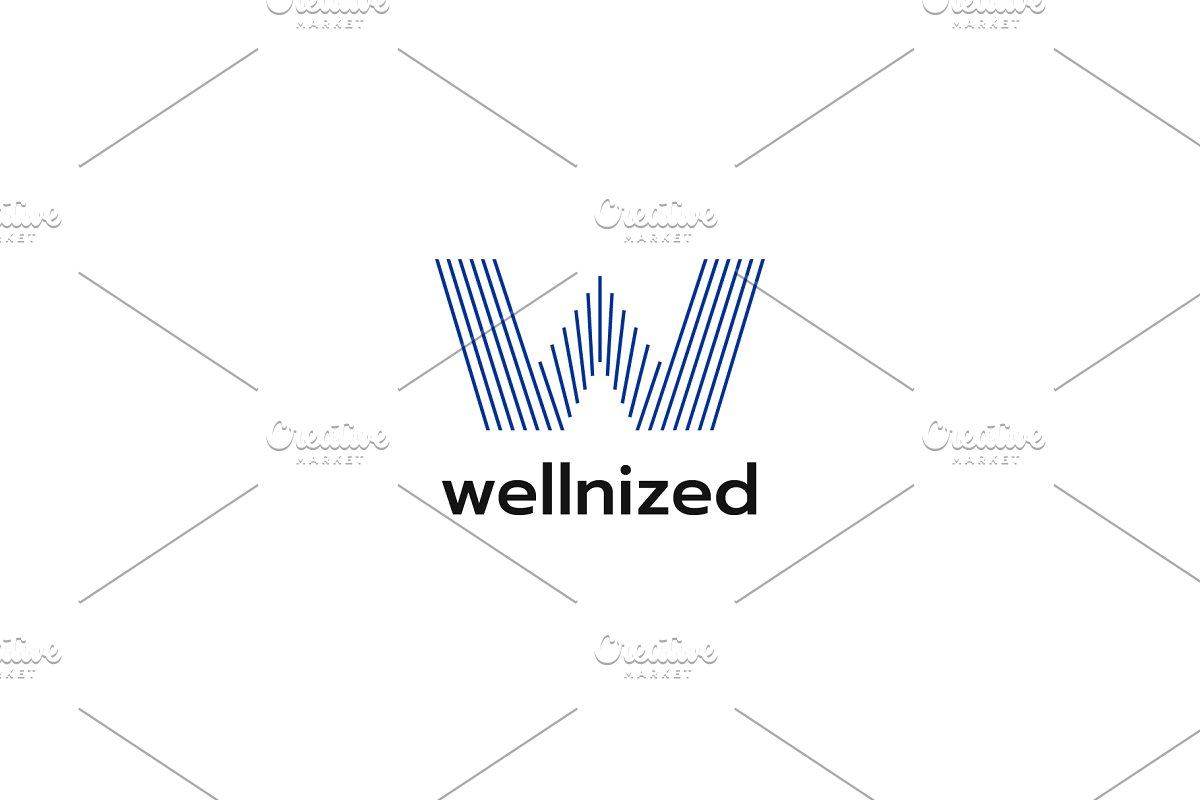 W Line Logo in Logo Templates - product preview 8