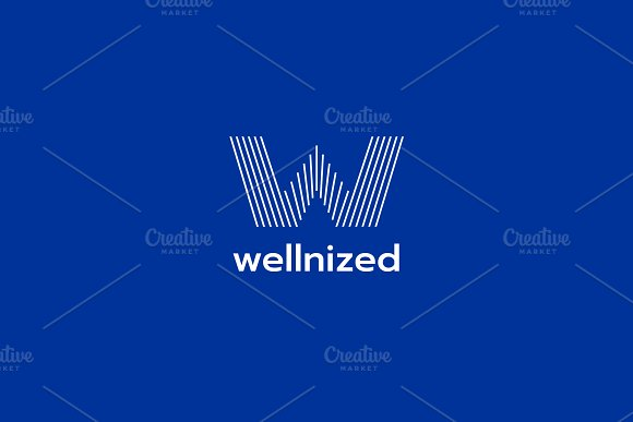 W Line Logo in Logo Templates - product preview 1