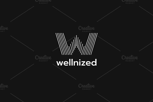W Line Logo in Logo Templates - product preview 2