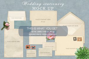Wedding stationery Mock Up