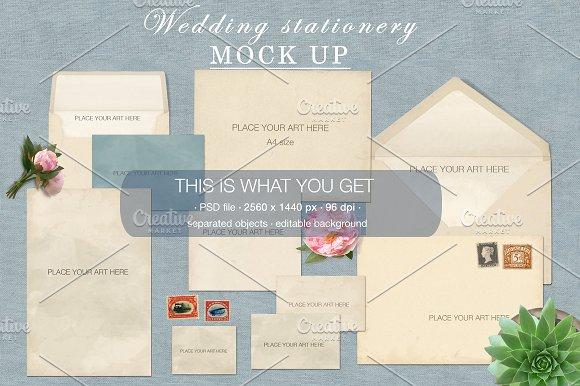 Wedding stationery Mock Up