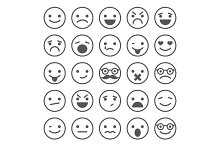 Set of Smiles Icons