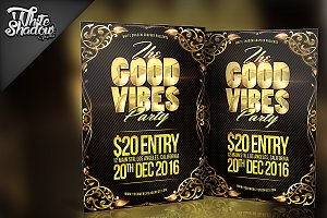 Good Vibes Party Flyer
