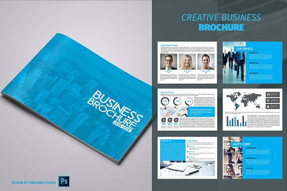 12 pages business brochure brochure templates creative market