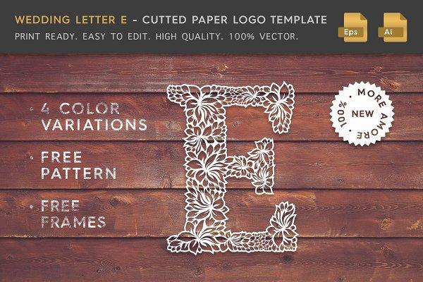 Wedding Letter E - Logo Template