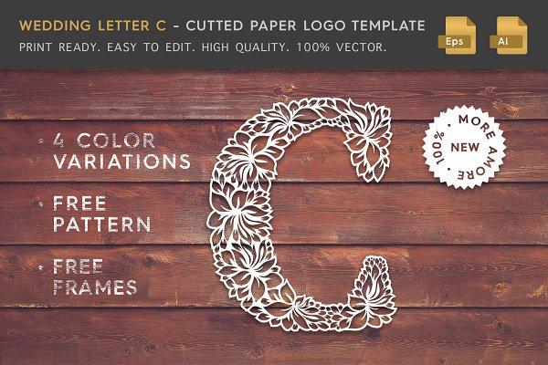 Wedding Letter C - Logo Template