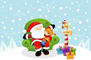 Santa With Kid