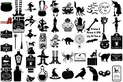 Halloween Witches/Potions AI EPS PNG