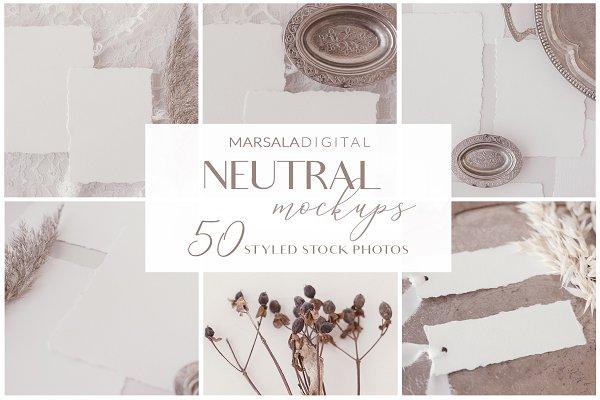 NEUTRAL Mockups 50+ jpgs