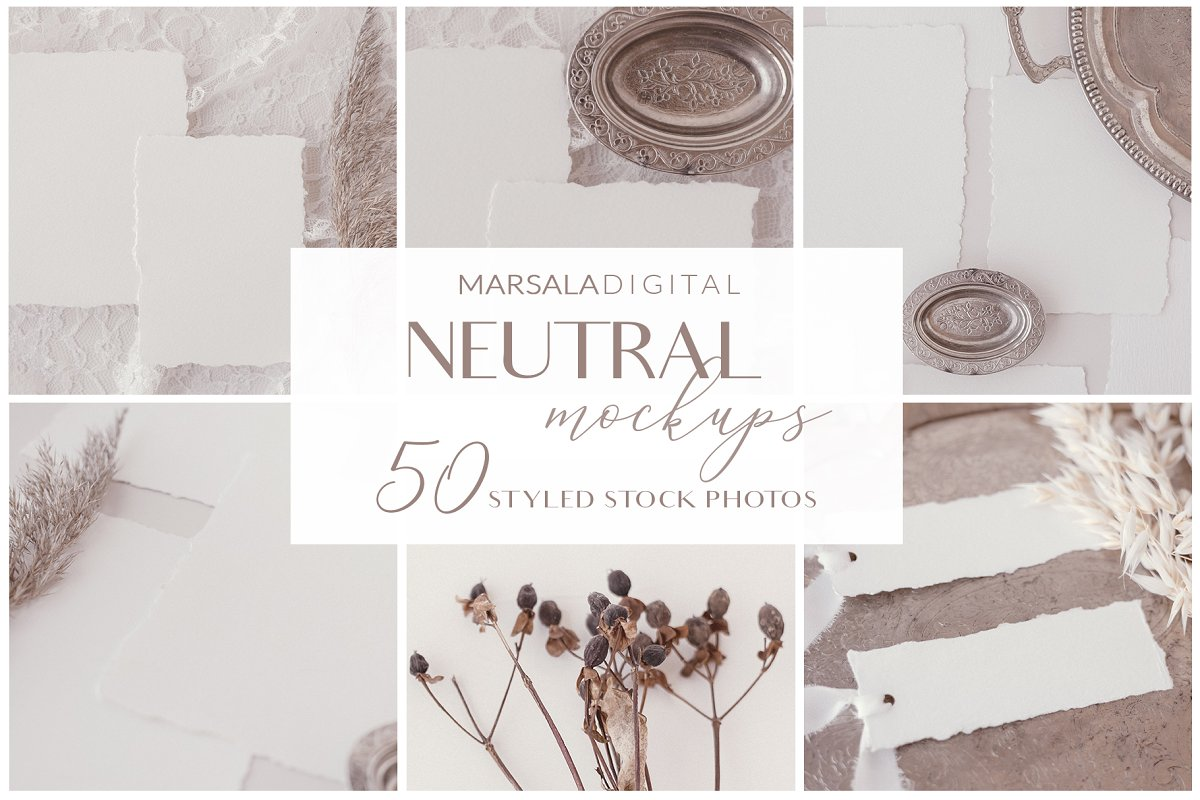 NEUTRAL Mockups 50+ jpgs in Invitation Templates - product preview 8