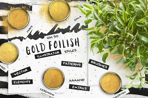 80 AI Gold Foil Swatches + EXTRAS