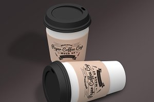 Paper Coffee Cup Mock-Ups