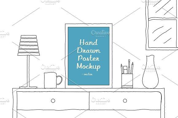 Hand Drawn Poster Mockup v1