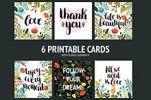 6 Printable cards