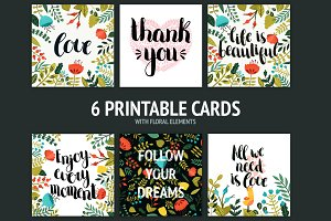 6 Printable cards
