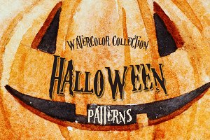 Watercolor Halloween Patterns
