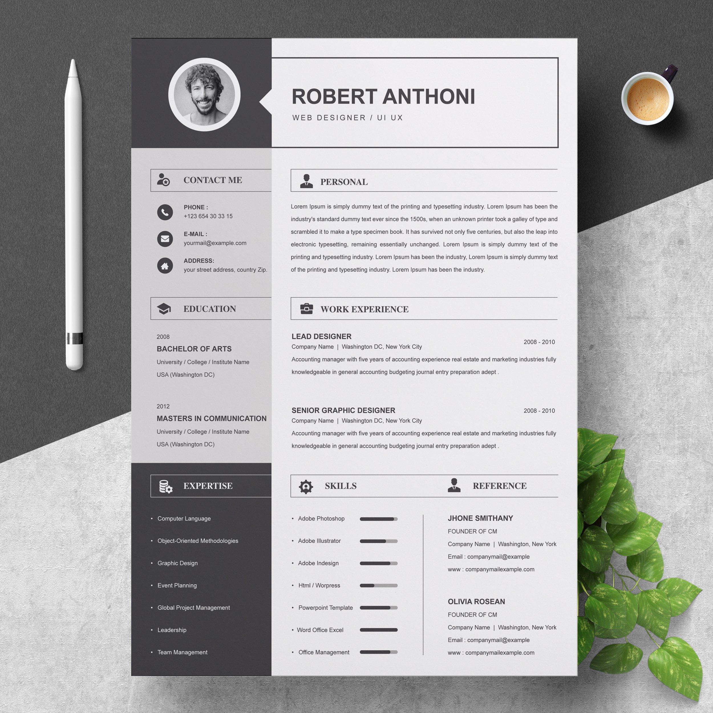 2 Pages Resume Template / CV Design | Creative Illustrator ...