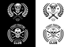Street fighting club Psycho emblem