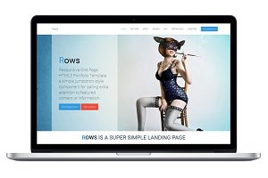 Rows - One Page HTML5 Template