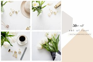 50% OFF | Tulips, Gold and Stripes