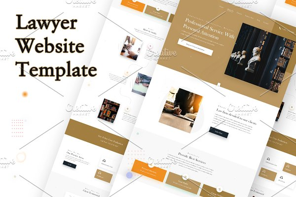 Law Firm - Homepage design