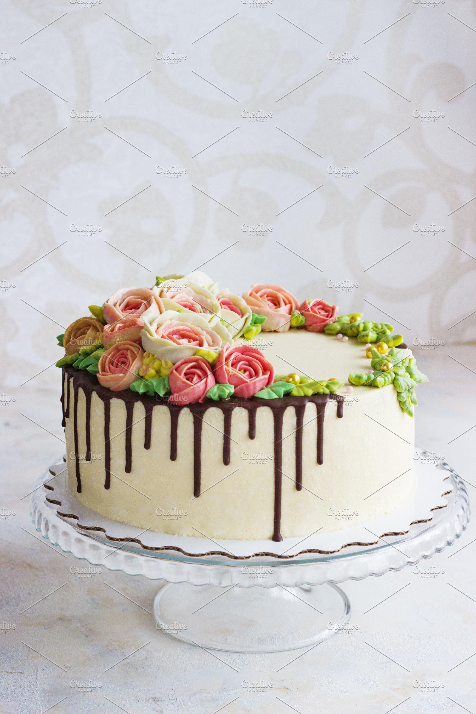 Save Birthday Cake With Flowers