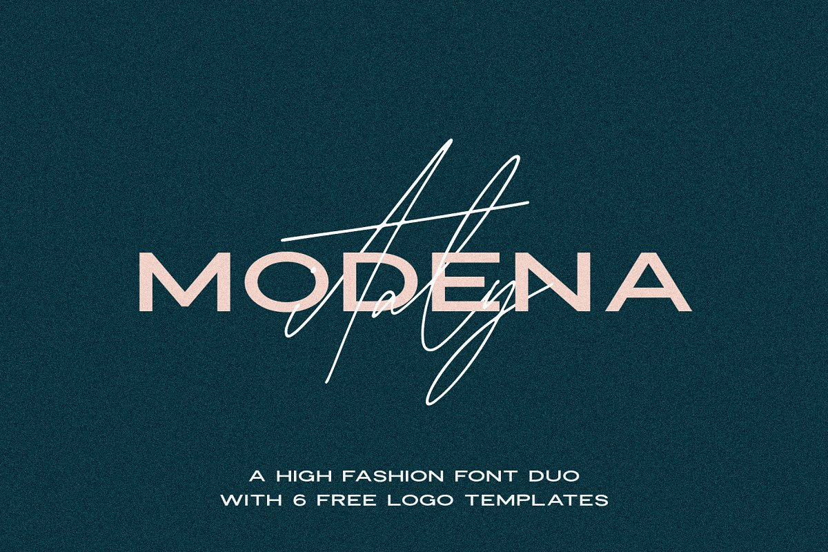 Modena | Duo with 6 Free Logos