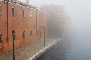 Fog street in Venice