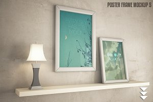 Interior frame poster mock-up