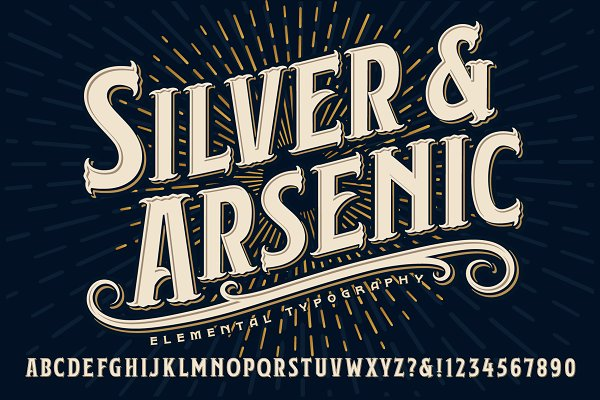 Silver & Arsenic Alphabet