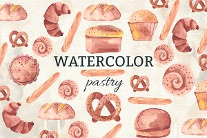 Watercolor pastry
